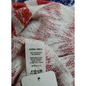 luna chic Sweaters - Stars & Stripes Sweater Racerback Tank Top